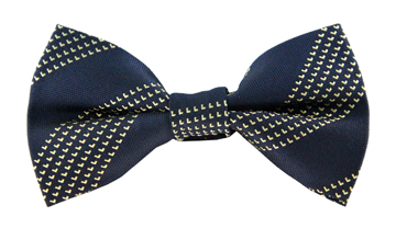 Wade Yellow Striped Bow Tie
